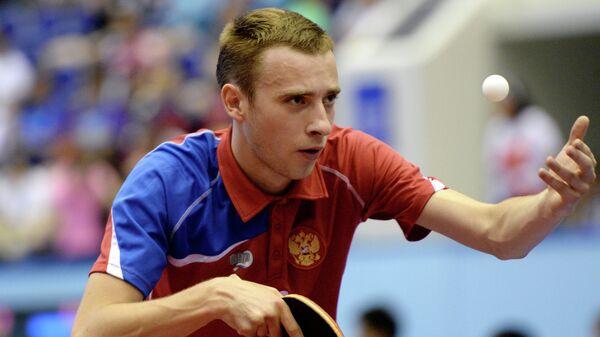 Игрок сборной России по настольному теннису Александр Шибаев