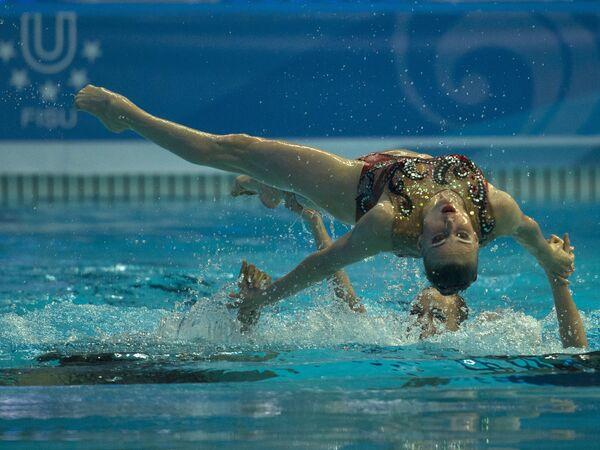Выступление сборной России по синхронному плаванию