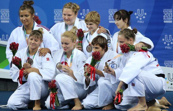 Спортсменки сборной России, завоевавшие бронзовые медали в женском турнире по дзюдо