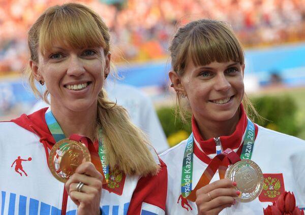 Екатерина Шармина и Елена Коробкина (слева направо)