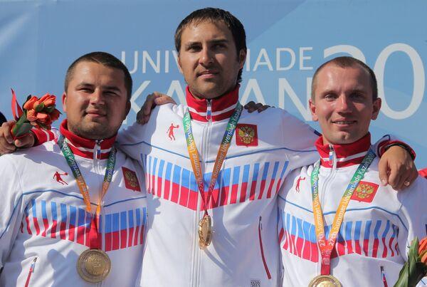 Артем Некрасов, Михаил Лейбо, Александр Фурасьев (слева направо)