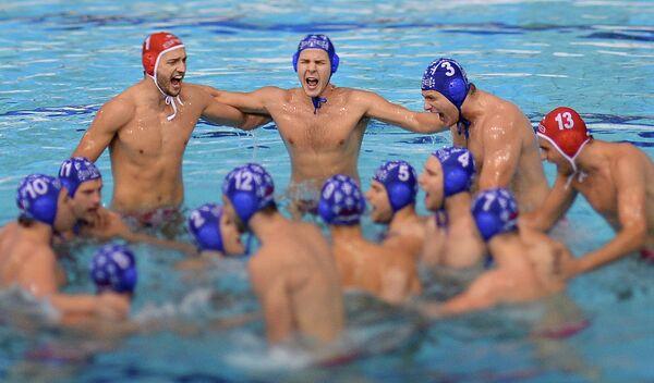 Ватерполисты сборной Сербии перед финальным матчем за третье место
