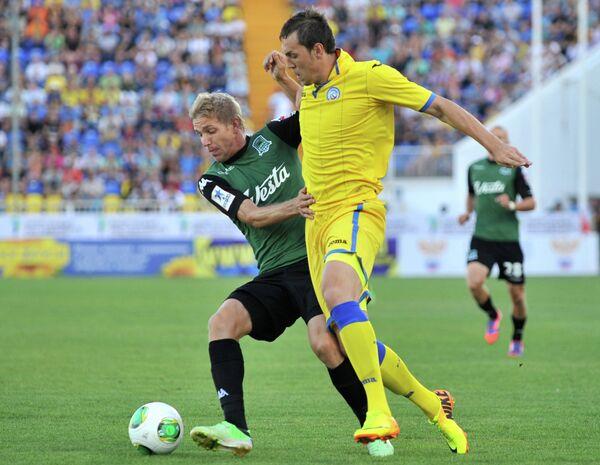 Игровой момент матча Ростов - Краснодар