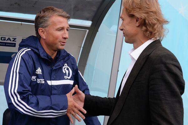 Дан Петреску (слева) и Валерий Карпин