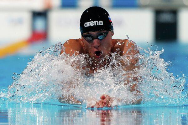 Кирилл Стрельников на дистанции 100 м брассом на ЧМ по водным видам спорта