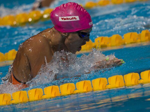 Юлия Ефимова (Россия)  в финале дистанции 100 м брассом