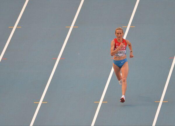Россиянка Альбина Майорова в марафонском забеге среди женщин