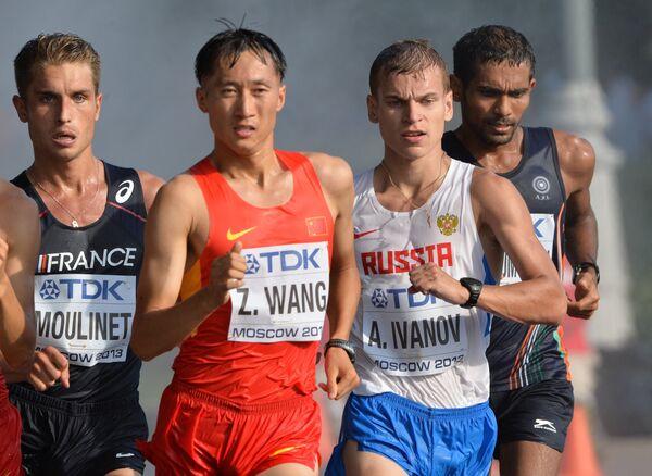 Бертран Мулине, Ван Чжэнь и Александр Иванов (слева направо)