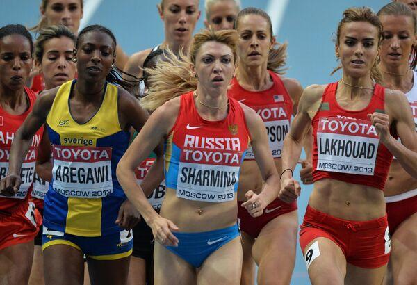 Российская спортсменка Екатерина Шармина (в центре)