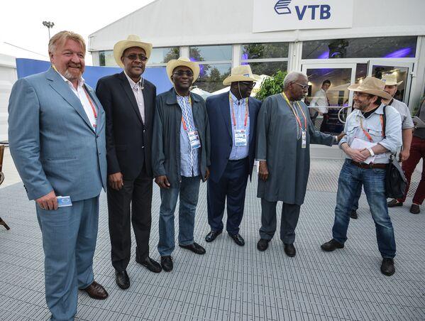 Гости чемпионата мира по легкой атлетике на VTB Lounge Terrace