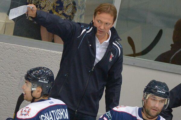Главный тренер хоккейного клуба Торпедо Петерис Скудра