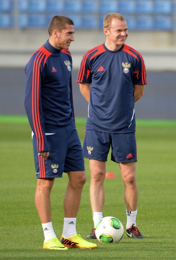 Александр Самедов (слева) и Сергей Игнашевич