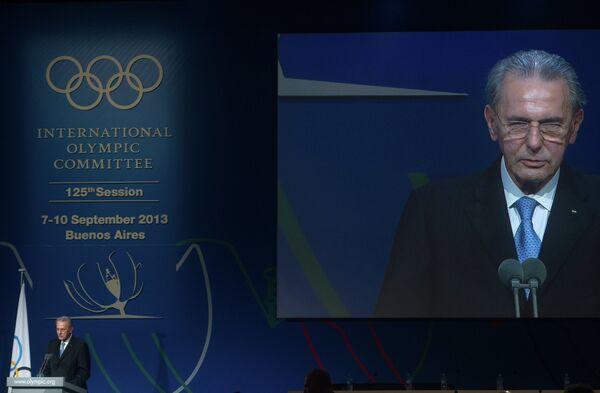 Жак Рогге на закрытии 125-й сессии МОК
