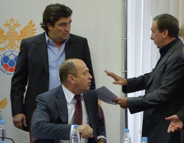 Николай Писарев, Сергей Прядкин и  Евгений Гинер (слева направо)