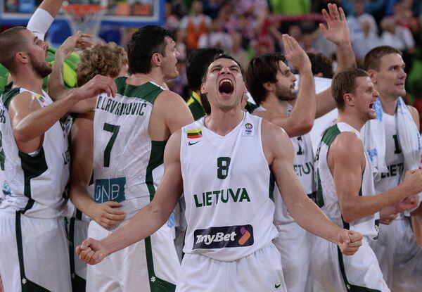 Баскетболисты сборной Литвы
