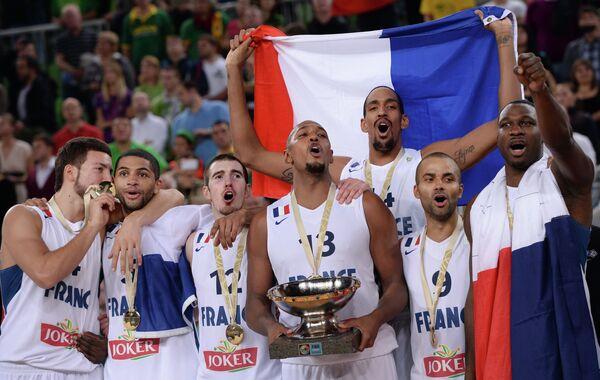 Баскетболисты сборной Франции