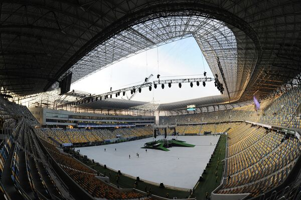 Здание стадиона Львов-Арена во Львове