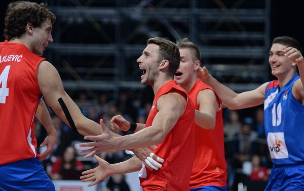 Волейболисты сборной Сербии