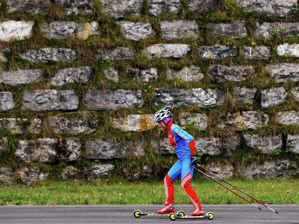 Российская биатлонистка Анастасия Загоруйко