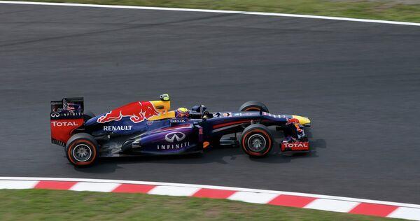 Марк Уэббер во время квалификации Гран-при Японии