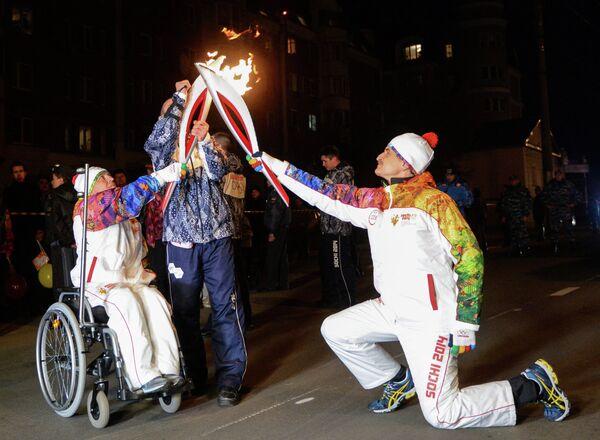 Эстафета Олимпийского огня. Калуга