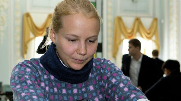 Шахматистка Валентина Гунина во время суперфинала Чемпионата России по шахматам