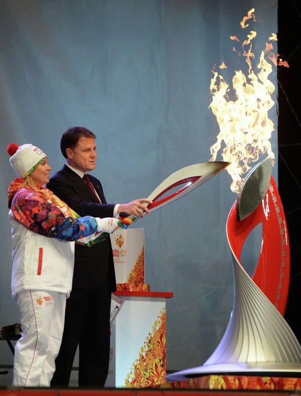 Ольга Слюсарева и Владимир Груздев