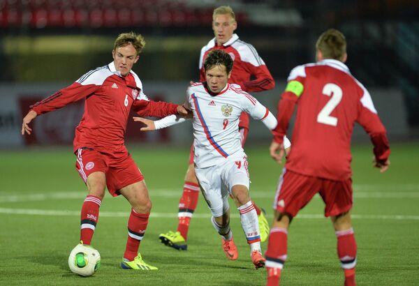 Футбол. Отборочный матч ЧЕ-2015 среди молодежных сборных. Россия - Дания