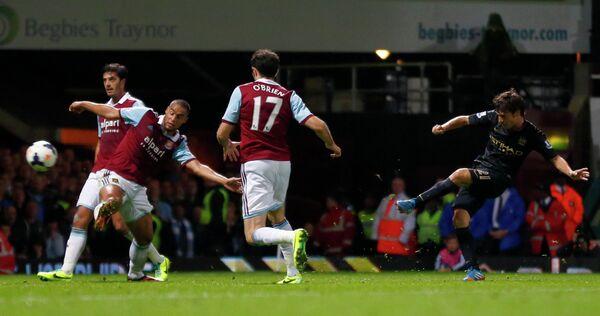 Игровой момент матча Манчестер Сити - Вест Хэм