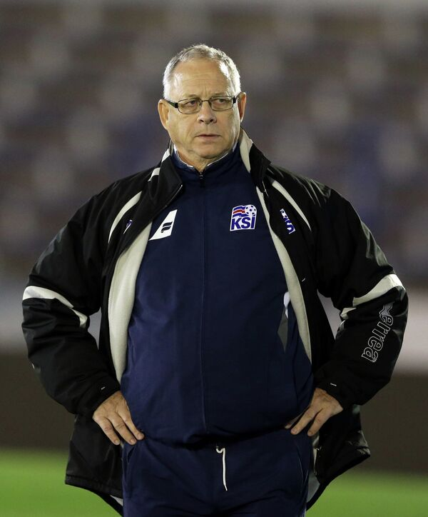 Главный тренер сборной Исландии по футболу Ларс Лагербек