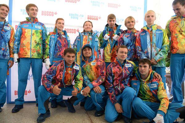 Презентация официальной униформы волонтеров и персонала Олимпиады 2014
