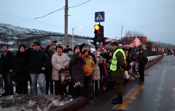 Эстафета Олимпийского огня. Мурманск