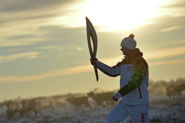 Эстафета Олимпийского огня. Нарьян-Мар