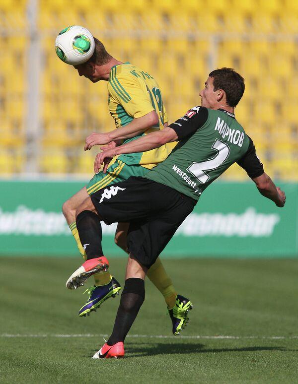 Игровой момент матча Краснодар - Кубань