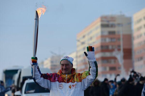 Эстафета Олимпийского огня. Новый Уренгой