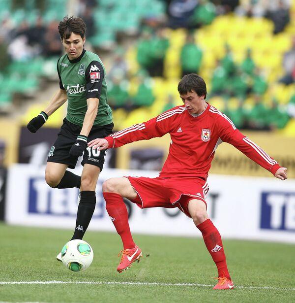 Игровой момент матча Краснодар - Звезда