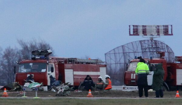 Следователи работают на месте трагедии в Казани, где 18 ноября разбился самолет Боинг 737 авиакомпании Татарстан
