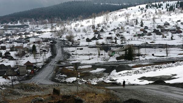 Вид на поселок Шерегеш