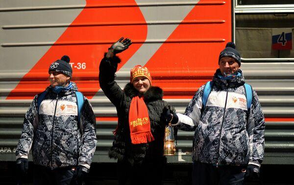 Олимпийский огонь прибыл в Новокузнецк
