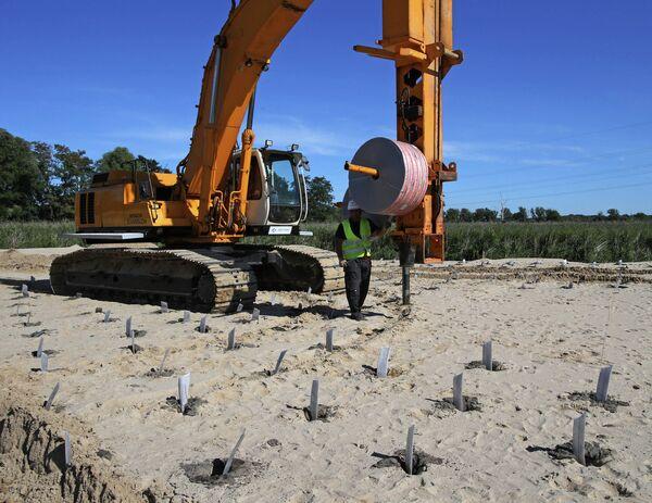 Подготовка к строительству футбольного стадиона в Калининграде