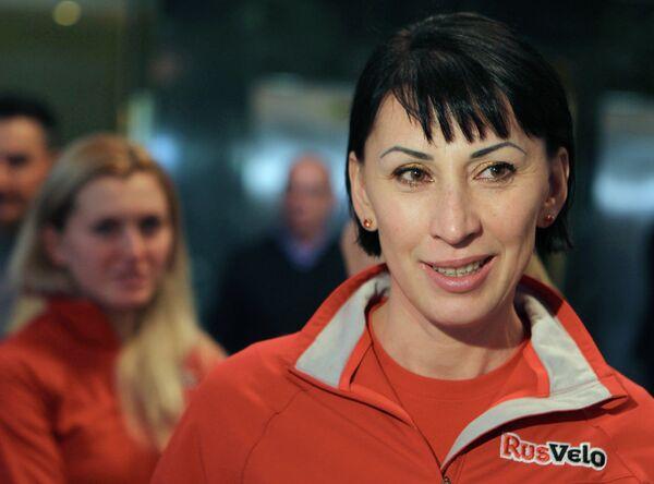 Тренер российской велокоманды РусВело Зульфия Забирова