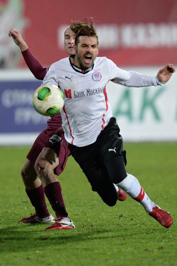 Игровой момент матча Рубин - Амкар