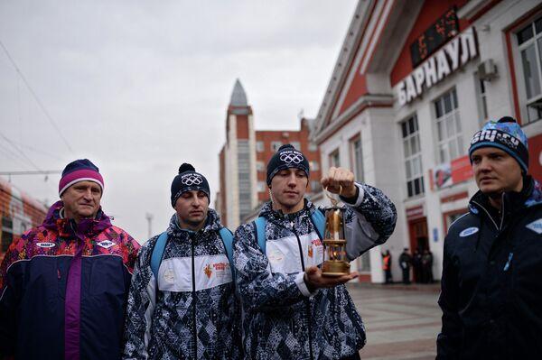 Эстафета Олимпийского огня. Барнаул