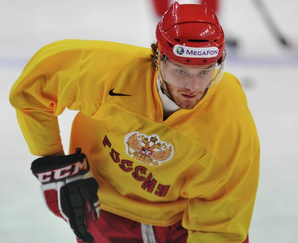 Нападающий сборной России Михаил Григоренко