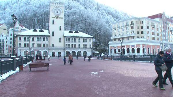 Красная Поляна накануне Игр: снежные пушки, новые трассы и восторг туристов