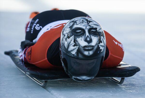 Скелетон. II этап Кубка мира. Женщины. Сара Рейд (Канада).