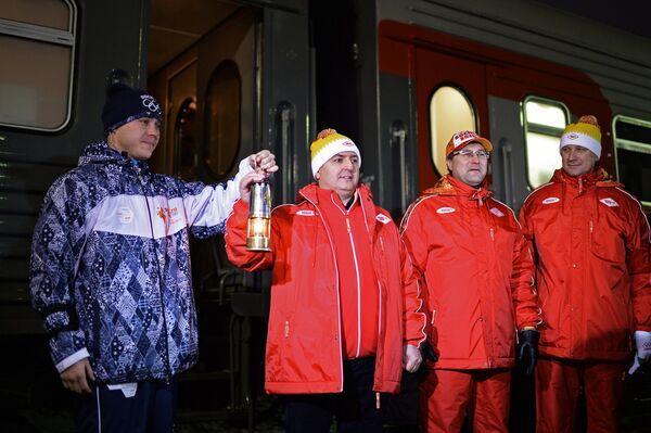 Эстафета Олимпийского огня. Омская область