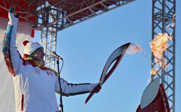 Эстафета Олимпийского огня. Тобольск