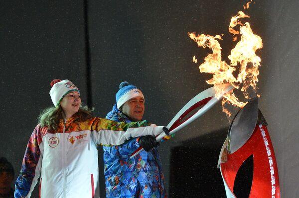 Эстафета Олимпийского огня. Екатеринбург