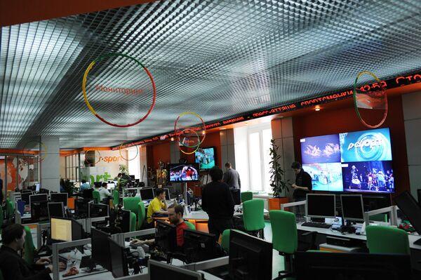 Ньюсрум хост-агентства ЧМ-2015 по водным видам спорта в Казани